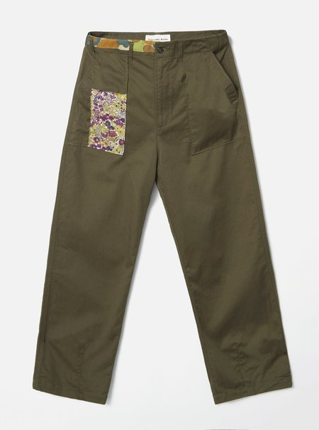 Glasswing Universal Works Repaired Fatigue Pant - green