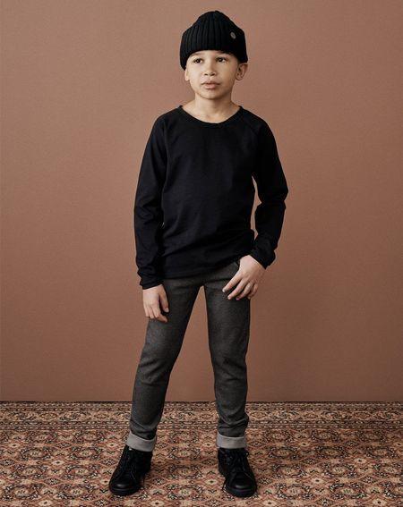 KIDS MAINIO Double Knit Slim Fit Sweatpants - Grey