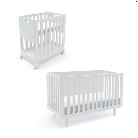 KIDS Oeuf Fawn Crib + Bassinet System