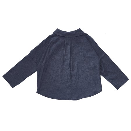 KIDS Bacabuche Flannel Button Down Shirt - INDIGO