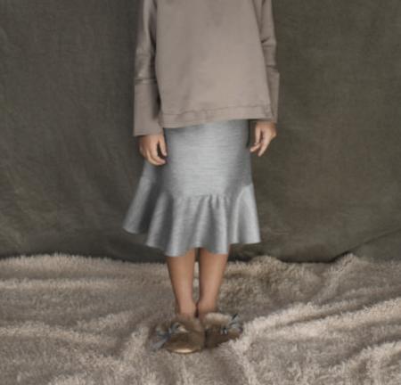 KIDS Unlabel Jan Woven Ruffled Skirt - GREY