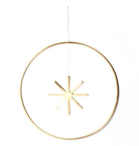 Ferm Living Large Winterland Star - BRASS