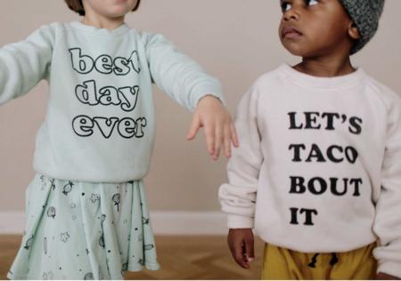 KIDS Kira Kids Let's Taco Raglan Sweatshirt