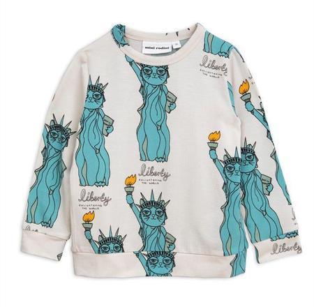 KIDS Mini Rodini Liberty Long Sleeve Tee - GREY