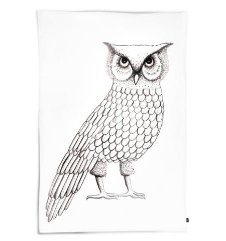 OOH NOO Pensive Owl Twin Duvet