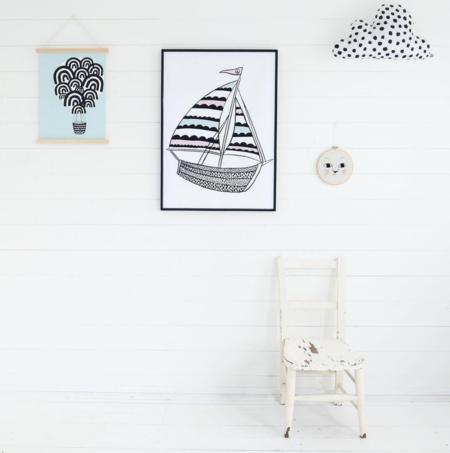 Kids WONDER & RAH Sailing Poster