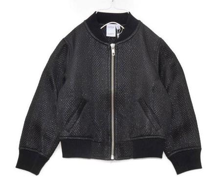 KIDS LITTLE MAN HAPPY Shimmer Bomber Jacket - BLACK