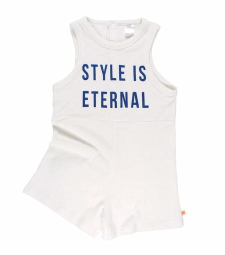 KIDS Tinycottons Style Is Eternal Towel Onepiece - OFF WHITE/BLUE