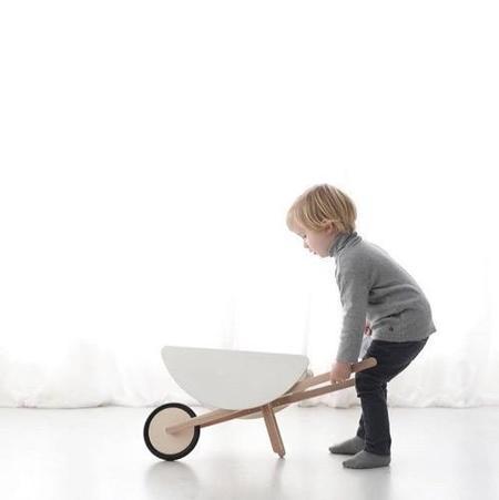 KIDS OOH NOO Toy Wheelbarrow - WHITE