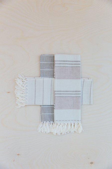 Territory Set of Three Tea Towels - Warm Grey