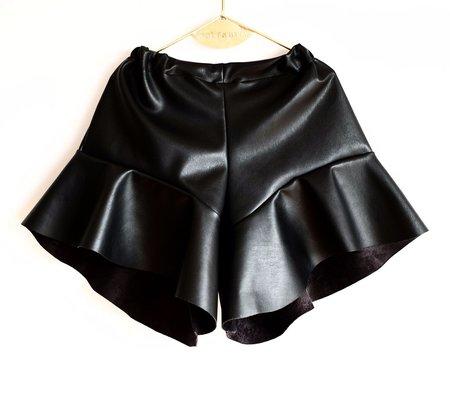 Wolf & Rita Faux Leather Aurelia Shorts - BLACK