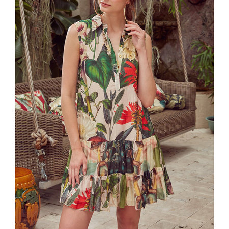 Carolina K Zoe Midi Dress - Medicinal Plants Rose Water