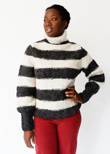 Where Mountains Meet Alpaca Zoey Stripe Sweater