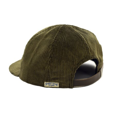 Sugar Cane Corduroy Baseball Cap - Olive