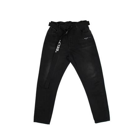 Off-White Slim Low Crotch Pants - Black