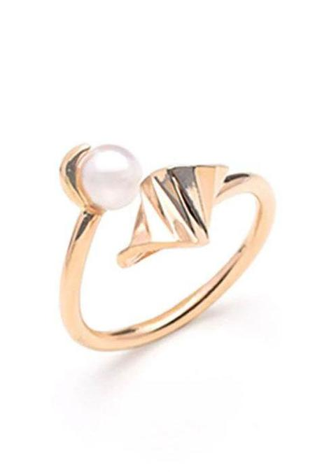 S/H Koh Onda Open Ring - Gold/Pearl