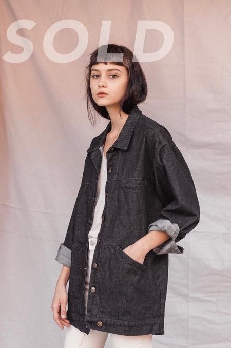 Kate Towers oversized denim jacket - WASHED BLACK
