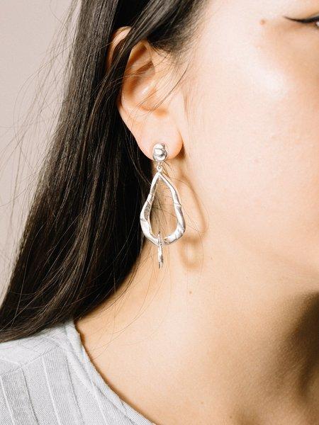 J.Yoshiko Silver Shizuku Earrings