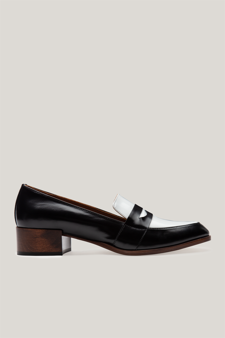 Thelma The Penny Loafer - Black Spectator