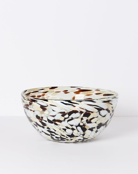 Hawkins New York Confetti Glassware Serving Bowl - Espresso