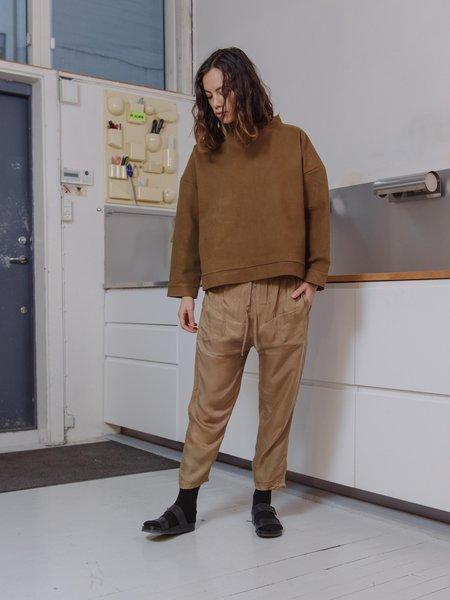 Priory Brushed Ponte Kade Crew Sweater - Chocolate