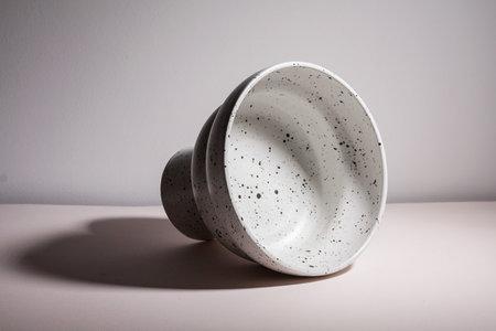 YYY Puff Pedestal Bowl - White