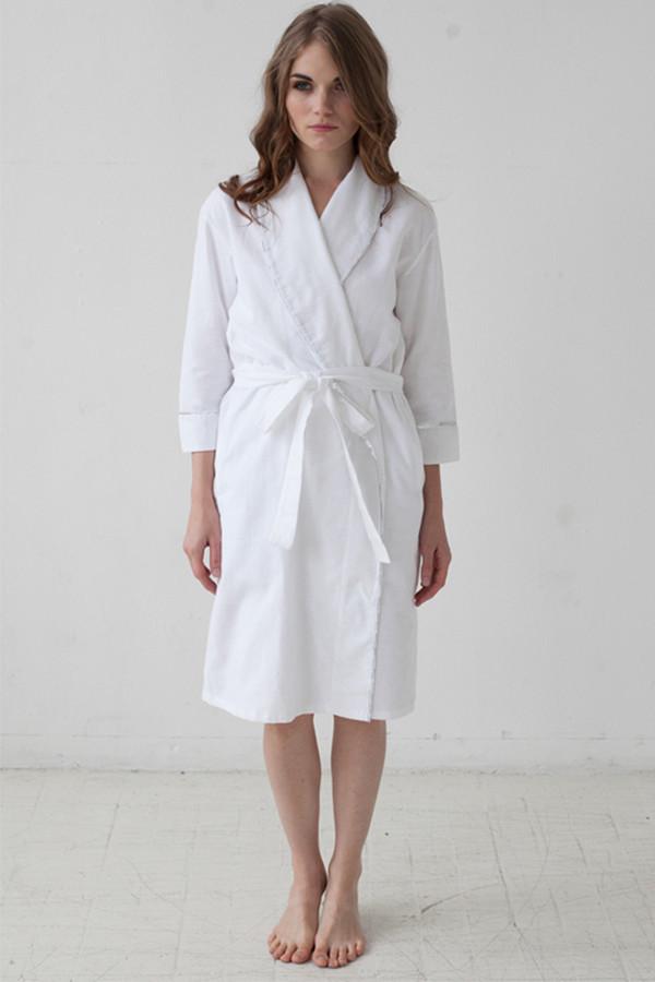 """Salua Atelier Classic Flannel Robe 31"""""""