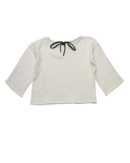 Kids Liilu Oversized Shirt -  Off-White