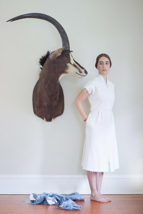Alexa Stark Denim Shift Dress