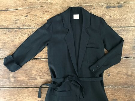 First Rite Belted Coat - Black