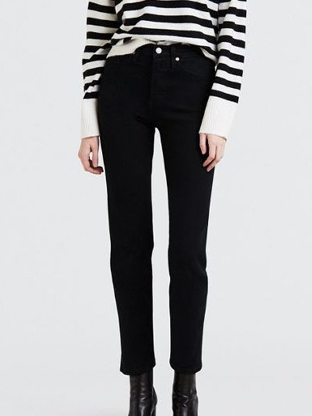 Levi's Wedgie Straight Jean - Black Heart