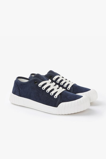 Good News Rhubarb Low Organic Corduroy Sneakers - Navy