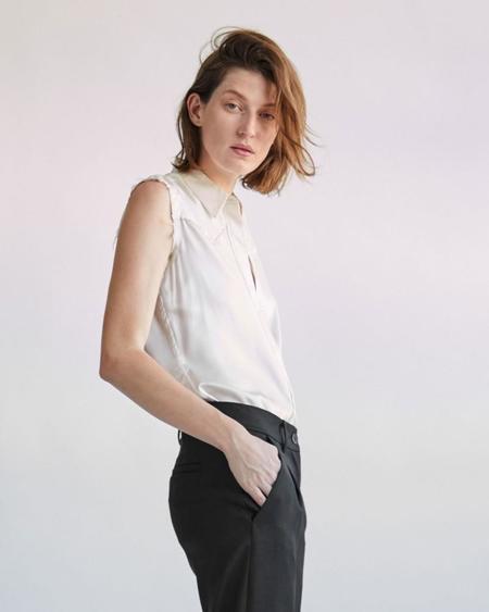 Nili Lotan Brayden Shirt - Ivory
