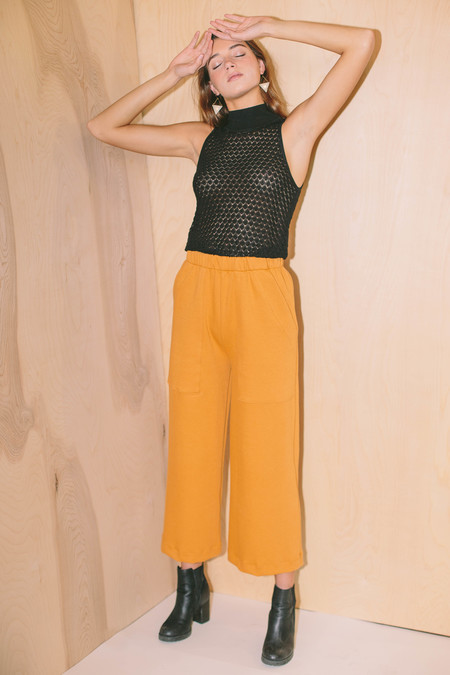 STORM & MARIE sleeveless Elena Tank sweater - BLACK