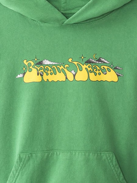 BRAIN DEAD Free Jazz Hoodie - Kelly Green