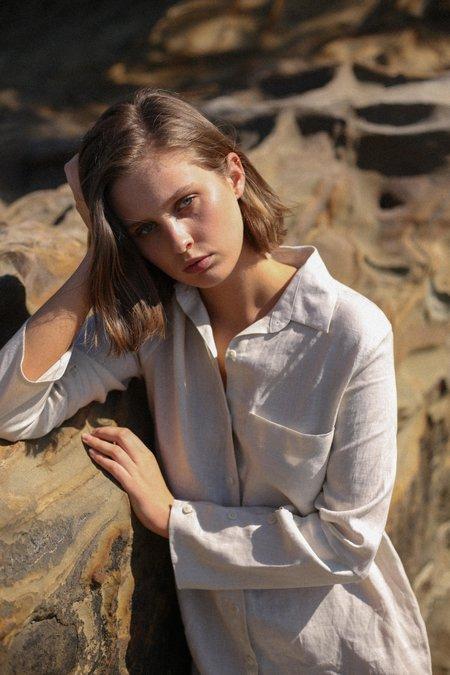 Mina Fig Shirt - Natural