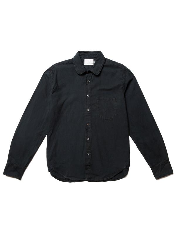 Olderbrother Japanese Oxford Shirt   Black Indigo