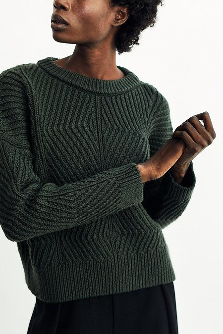 Micaela Greg Bevel Sweater - Forest