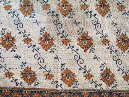 Nine Streets Vintage Kantha Shams - Wheat Floral