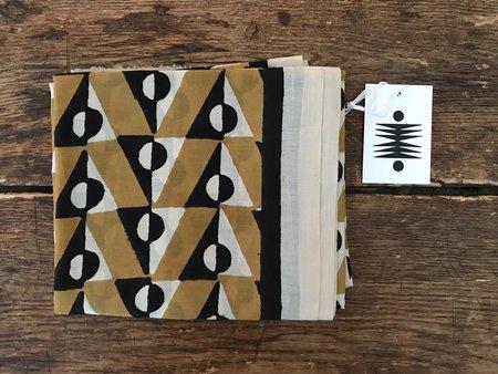 Block Shop Textiles Scorpio Scarf - Ochre/Black/White