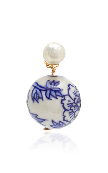 SVNR Jingdezhen Earring - Pearl/Porcelain