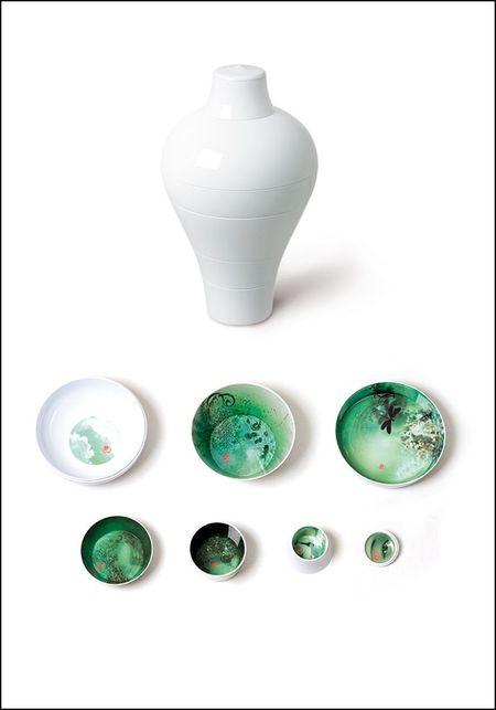 Ibride White Ming Stacking Bowl Set - White