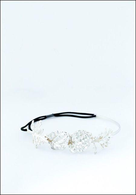 Belart Silver Leaves Headpiece