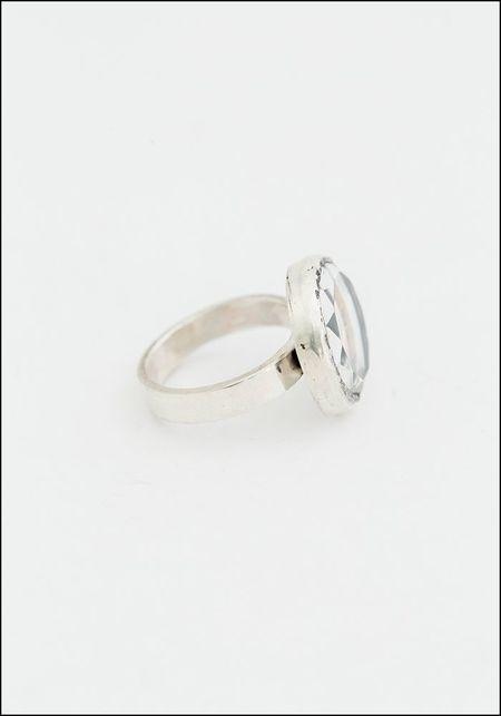Acanthus Faceted Quartz Gilded Skull Ring