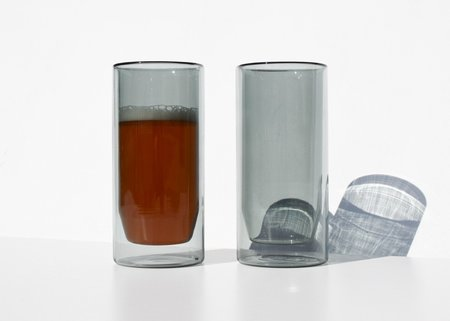 Yield Double-Wall 16oz Glasses - Gray