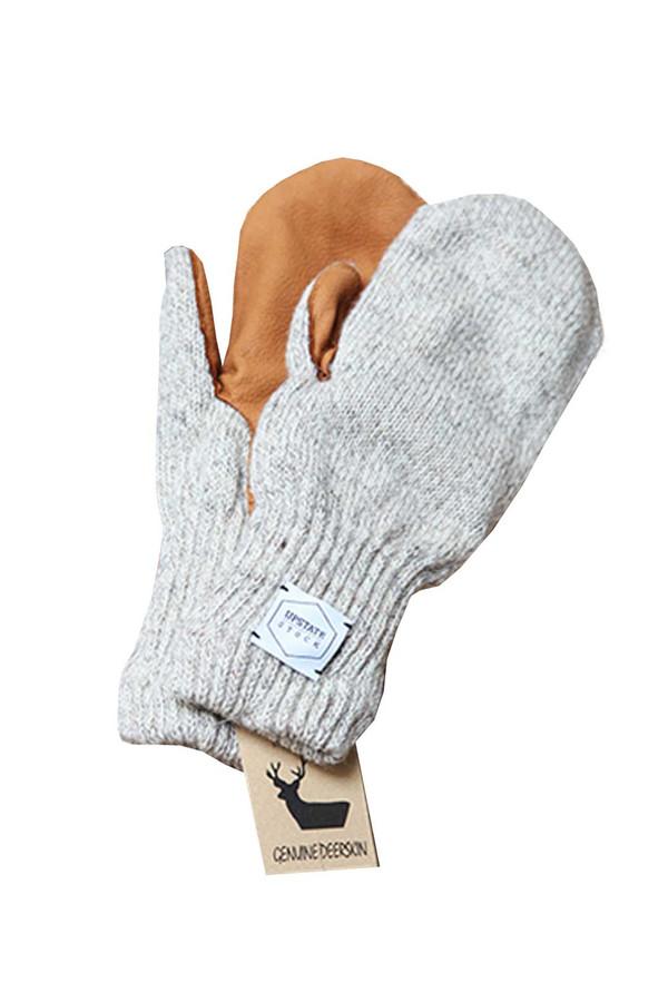 Men's Upstate Stock Deerskin Knit Mitt