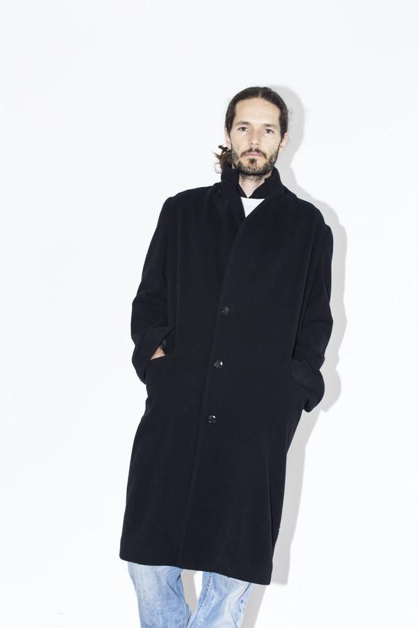 Men's Assembly New York Black Overcoat