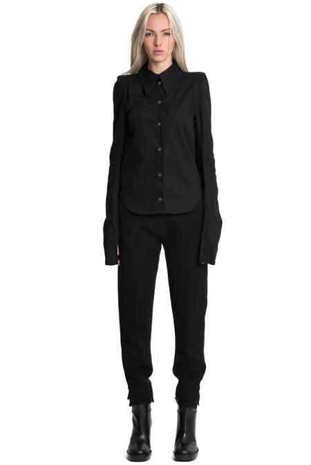Ann Demeulemeester Rigatino Shirt - Black