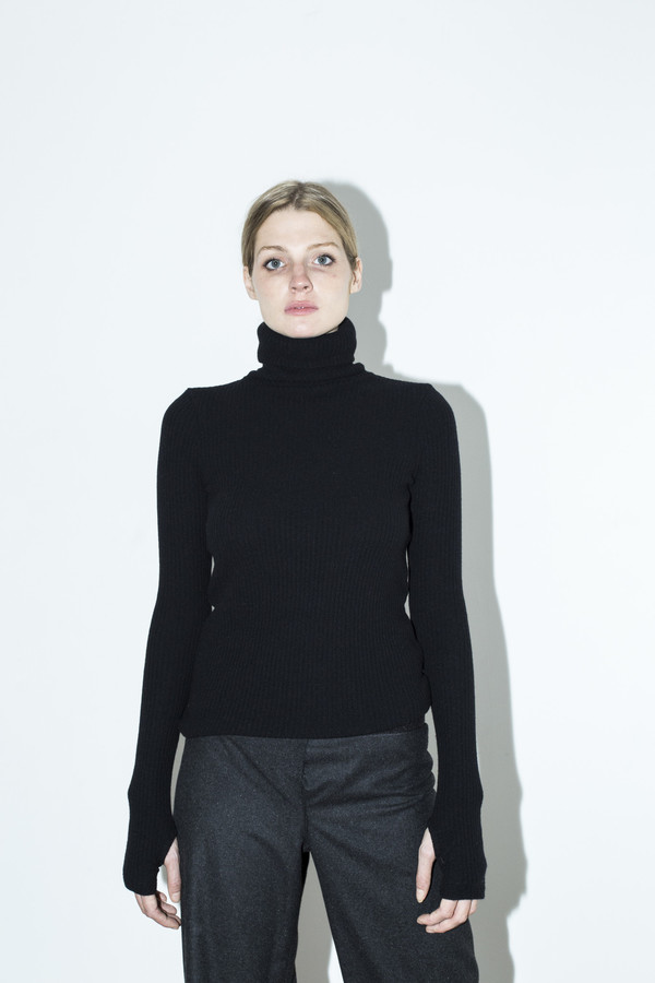 Assembly New York Black T Neck Top