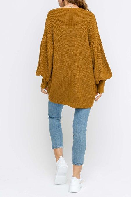 Lush Dolman Sleeve Cardi - Camel